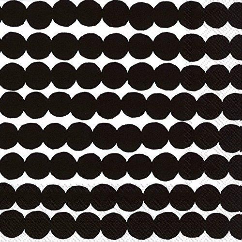 rasymatto-negro-diseno-de-lunares-marimekko-luncheon-servilletas-de-papel-20-en-un-paquete-33-cm-cua