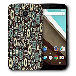 Snoogg Mixed Color Brown Printed Protective Phone Back Case Cover For LG Google Nexus 6
