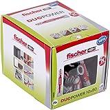 Fischer Duo Power universele pluggen, maat 10 x 80 mm, verpakking van 25 stuks,