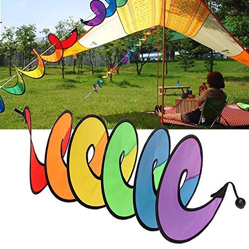 ECMQS Bunte Camping Tent Faltbare Rainbow Spiral Windmühle Wind Spinner Haus Garten Decor Ornamente Klassisches Spielzeug