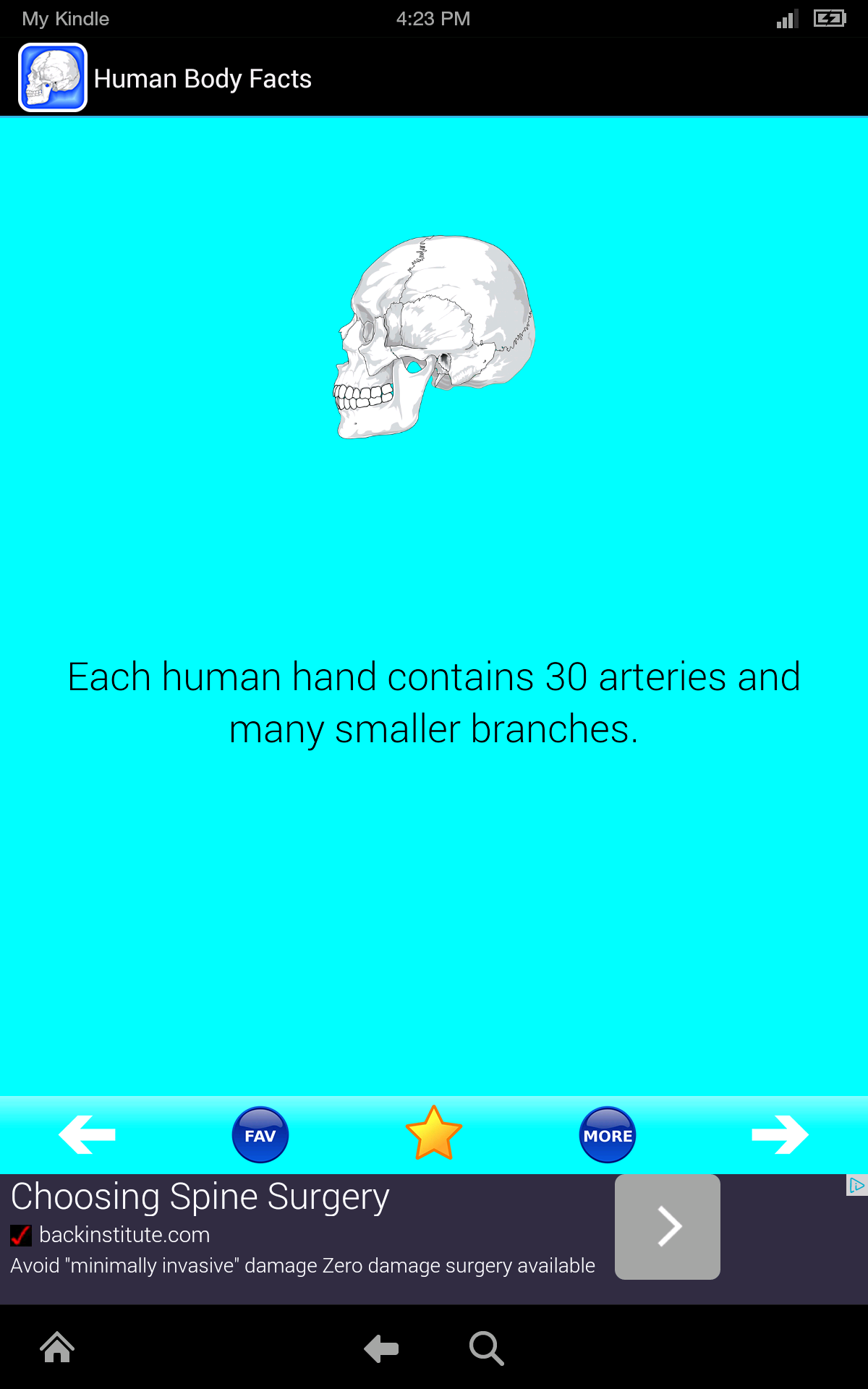 Human Body Facts: Fun Human Anatomy and Physiology Flash Cards app FREE!  Learn about Bones, Muscles, Brain, and the Body Parts Atlas of Science