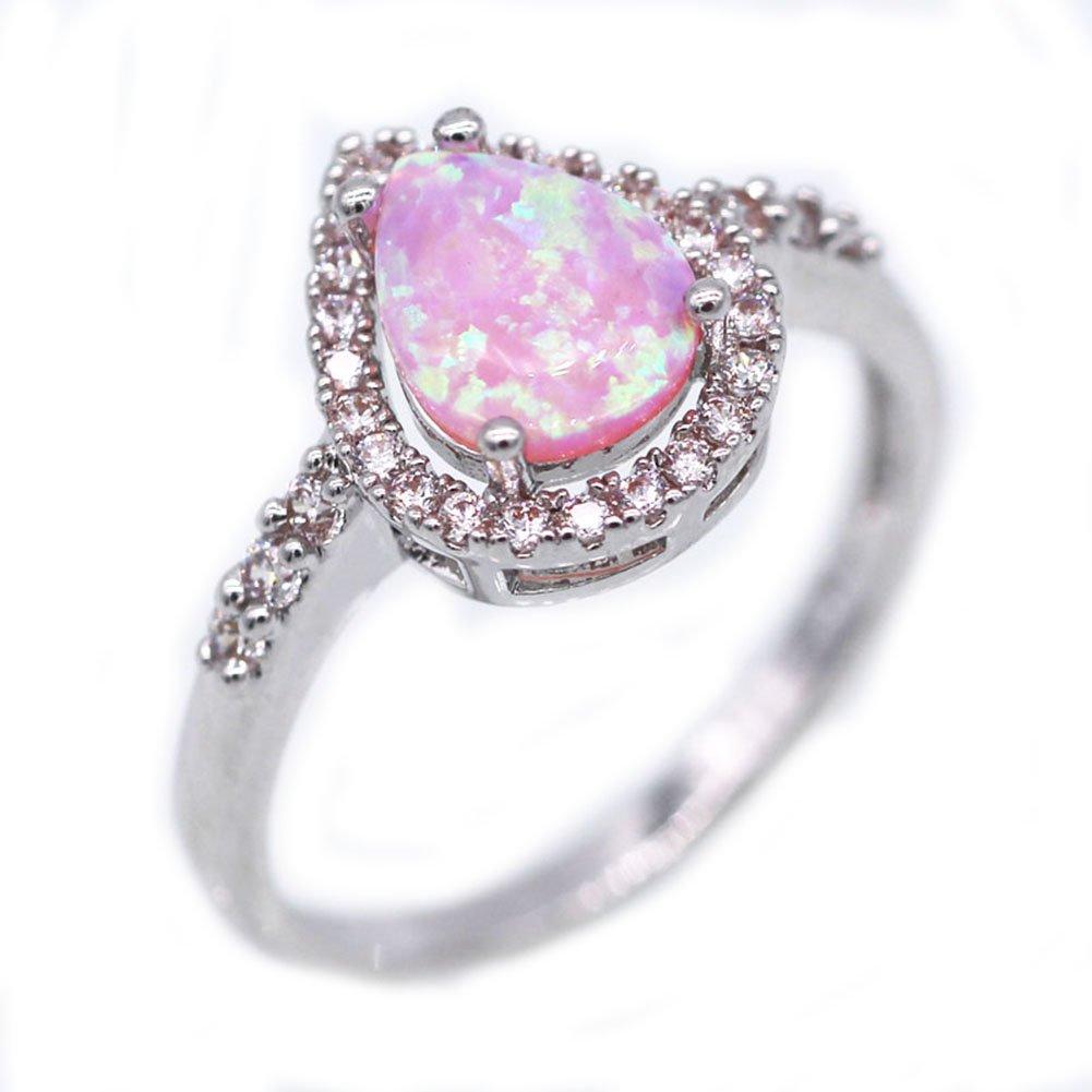 LOVE STUDIO, anello di modo delle signore Anelli brillanti AAA Zircon Gocce anelli di barretta Anell
