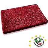 Badematte aus weichem & kuscheligem Hochflor | Öko-Tex zertifiziert | rot | 70x120cm
