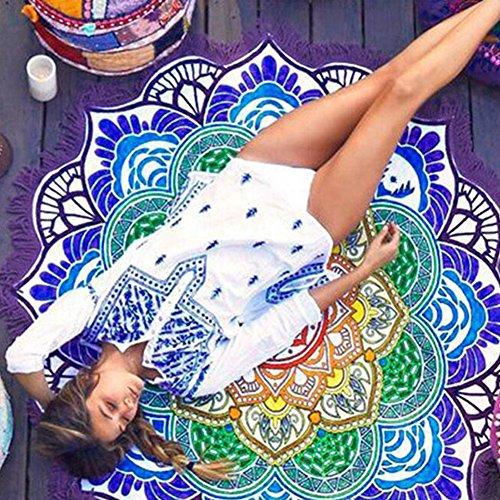 iBaste, Teli Colorati Lotus Stampa Copertina Costume da Bagno del Kimono Delle Donne Blu