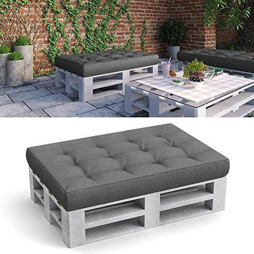 Palettenkissen Palettenmöbel Sitzkissen 120x80x15 cm Palettensofa Palettenpolster Kissen Sofa Polster Indoor Outdoor Anthrazit