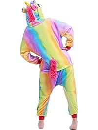 YiZYiF Pijama Unicornio Invierno para Unisex Niños Mono Una Pieza para Dormir Disfraz de Unicornio para