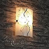 Moderne Glas Wandleuchte eckig mit E27 Fassung bis zu 60 Watt Wandlampe Flurlampen