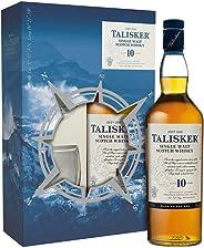 Talisker Single Malt Whisky 10 Jahre, Geschenkpackung mit 2 Gl?sern (1 x 0.7 l)