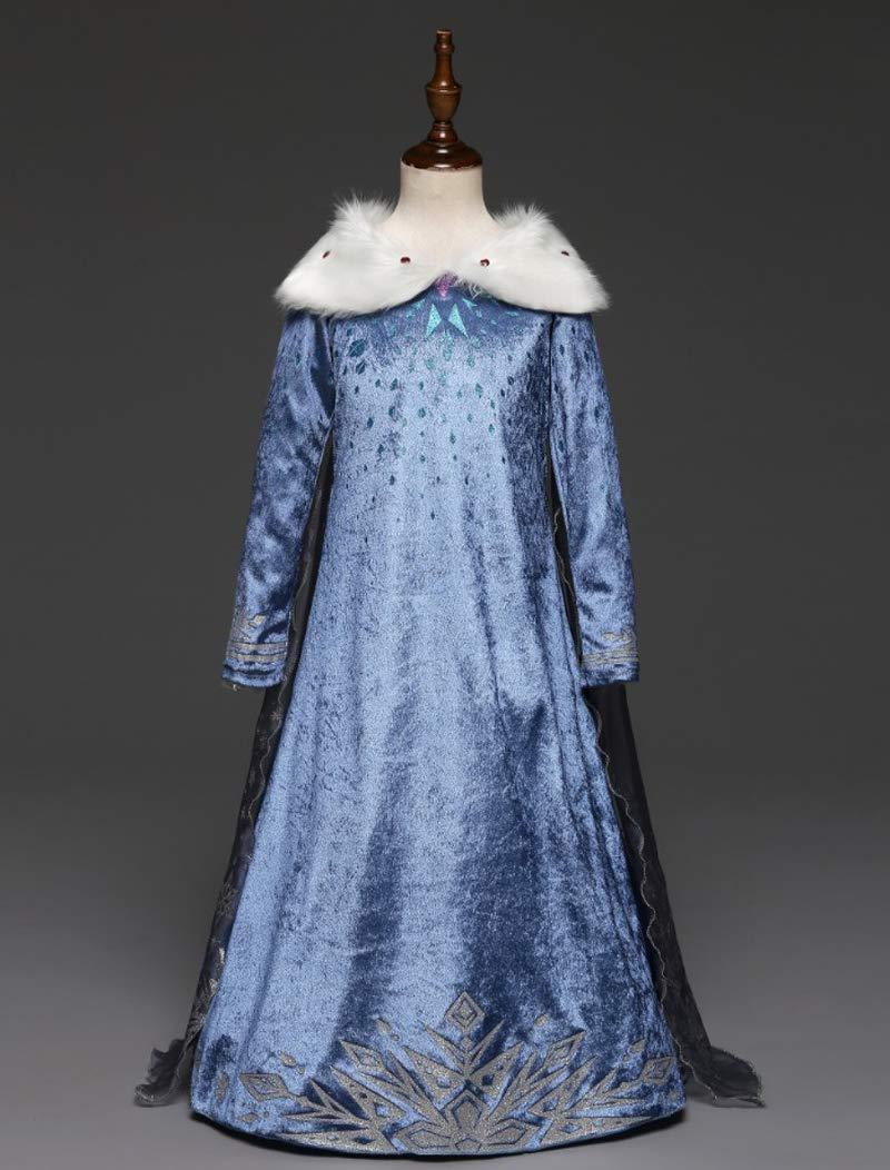 Princess Vestito Carnevale Bambina Abito Costume Bimbi Deluxe Elsa 131 3 spesavip