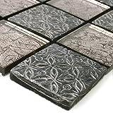 Glas Naturstein Resin Mosaik Fliesen Silber Mix