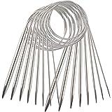 YXHZVON 8 Pièces Aiguilles à Tricoter Circulaires en Acier Inoxydable, Aiguilles à Tricoter de Chandail Aiguilles de Fil à Do