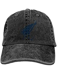 Voxpkrs Vintage Cotton Denim Cap Baseball Hat Fly Fishing Lure Six-Panel Adjustable Trucker Dad
