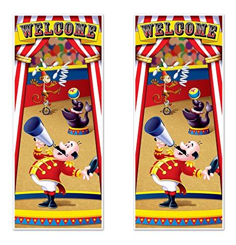 Beistle 52189, 2piece Circus Zelt Tür Bezüge, 76,2cm X 6', farbenreiche