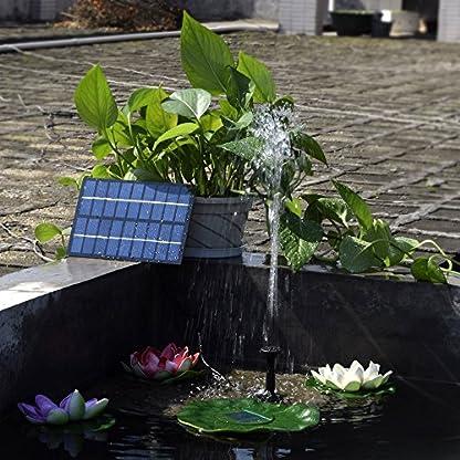 Decdeal Solar Powered Water Pump Solar Pond Pump Upgraded Submersible Fountain Pump for Bird Bath 170L/H 3