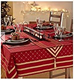 Raghuraj Lifestyle Jubilee Table Cover Perfect For Christmas Gifts And Decorations 100 % Cotton 6 Seater 140*170 cm (55*67Inches)