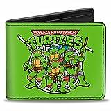 Buckle Down Men's Wallet Classic Teenage Mutant Ninja Turtles Battle P Bi-Fold, Multi