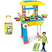 Shree Ganesh 2 in 1 Happy Chef Kids Kitchen Play Set with Light & Sound Cooking Kitchen Set Play Toy by Raadha (2 in 1…