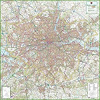Greater London - UK County Map - 150 x 150 cm