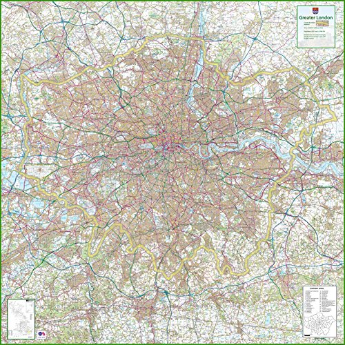 Mehr London - UK County Map, 150 x 150 cm -