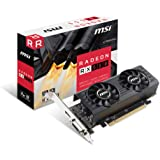 MSI RADEON RX 550 4GT LP OC Graphics Card '4GB GDDR5, 1203MHz, Low Profile Design, AMD Polaris 12 GPU, HDMI, DVI-D, HTPC…