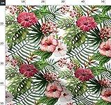 Tropisch, Sommer, Hibiskus, Wasserfarben, Hawaii, Blumen