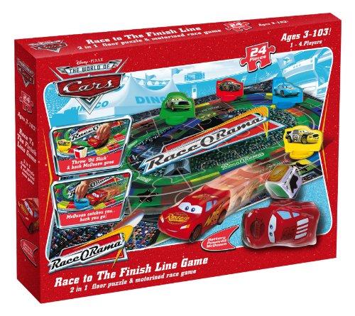 Pressman Disney Pixar Cars - Puzzle (24 Piezas) y Pista de Carreras