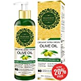 Morpheme Remedies Organic Extra Virgin Olive Oil Pure Cold Pressed Oil for Hair and Skin, 120ml