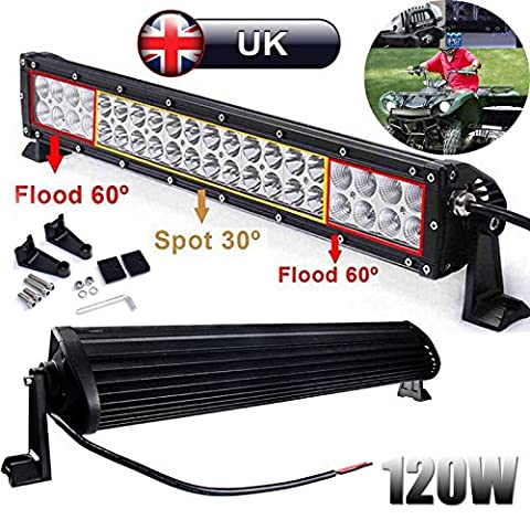Super helle LED-Bar 120W 53,3cm Spot/Flood Combo Beam Arbeit fahren Lampen für Offroad/Jeep/Truck/SUV/4x 4/Patrol/4WD