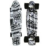 CY Mini Cruiser Shortboard Graphic Skateboards 22 Zoll(56cm) Kunststoff-Board im Retro-Stil Fertig Montiert UK Flag