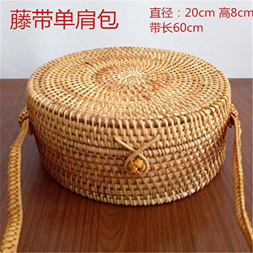 BAGEHUA Akito revestidos Tote Bag Bolso tejidas a mano accesorios té Canasta de Almacenamiento G (20cm * 8cm) G (20cm * 8cm)