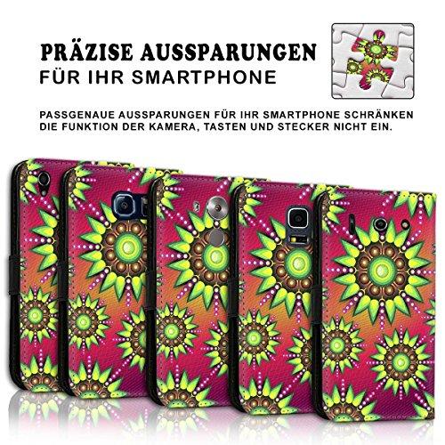Wallet Book Style Flip Handy Tasche Case Schutz Hülle Schale Motiv Etui für Apple iPhone 4 / 4S - Variante UMV12 Design12 Design 10