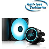 """DEEPCOOL GAMMAXX L120T Blue LED Lighting AIO Cooler with """"Anti-Leak Tech Inside"""" System, Two PWM Fans with Powerful…"""