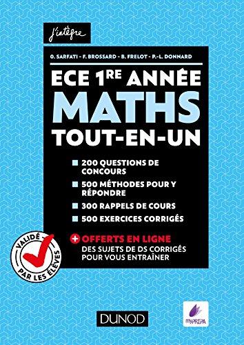 Maths ECE 1re année - Tout-en-un - Validé par les élèves