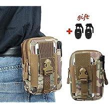 xhorizon(TM)Universal táctico de Molle de la capacidad grande herramienta para uso al aire libre Phone bolsa de la pistolera Bolsa funda paquete de la cintura del bolsillo con el lazo de la correa