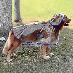Chubasquero transparente ajustable para perros