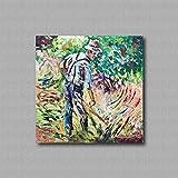 Pinturas al óleo de Arte Moderno Arte de Lienzo de Pared Pintura al óleo sobre lienzo de pared Decoración del hogar ilustraciones abstractas pintadas a mano - LA FALCE 90x90cm