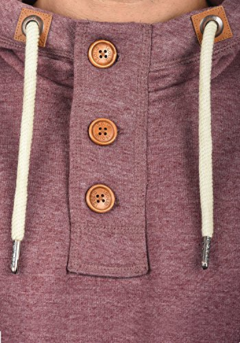 SOLID TripStrip Herren Kapuzenpullover Hoodie Sweatshirt aus hochwertiger Baumwollmischung, Größe:M, Farbe:Wine Red Melange (8985) - 5