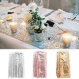 TXCFOO Tischläufer Glitter Pailletten Satin Tischdecke für Party Supplies Hochzeit Geburtstag 30*180CM - Gold