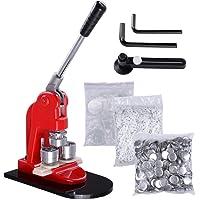 PhenixGa Bouton Maker 1IN / 25MM Bouton Maker Machine 1000Pcs Bouton Badge Maker Cadre En Aluminium Pièces De Bouton…