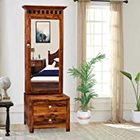 Neelkamal Art & Craft-Wooden Dressing Table for Bedroom with 2 Drawer, Mirror and Huge Storage Space Come with Bangle…