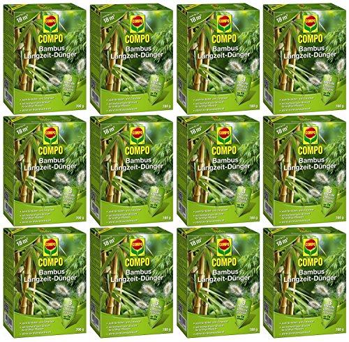 Oleanderhof® Sparset: 12 x COMPO Bambus Langzeit Dünger, 700 g + gratis Oleanderhof Flyer