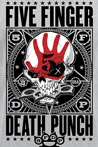 Five Finger Death Punch Punchagram T-Shirt grau meliert Grau Meliert