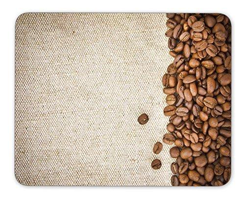 Kaffee Bohnen auf Jute Maus Pad Office Maus Pad Gaming Maus Pad Matte Dimension: 24,1x 20,1cm (Freundliche Jute)