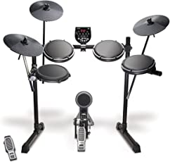 Alesis DM6 USB Kit Fünfteiliges elektronisches Drumset mit Dual-Zone Snare, USB MIDI Drumsound Modul, Drum Sticks