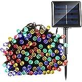 Luces de Navidad, fristee funciona con energía solar impermeable hadas lights-20LED 16M bola de cristal, RGB-200LEDs