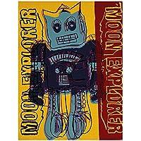 Moon Explorer robot, 1983(blu e giallo) by Andy Warhol Art