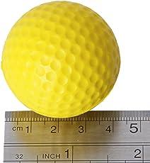 Youarebb Palline da golf in schiuma PU giallo spugna