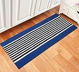 #7: Saral Home Soft Cotton Multi Purpose Runner (SOS-511-BLUE)-45x120 cm