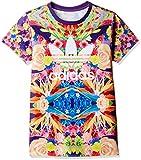 adidas Originals Flower Garden Trefoil Kinder Shirt Blumen LILA BUNT 110-170, Größe:110, Farbe:Mehrfarbig