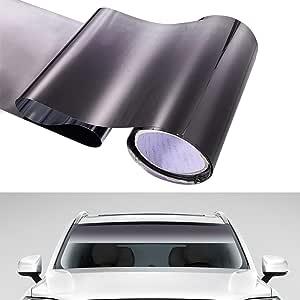 Semine Autofenster Sonnenblende Streifen T/önungsfolie Frontscheibe Sch/ützen Schatten Aufkleber DIY Auto Decor